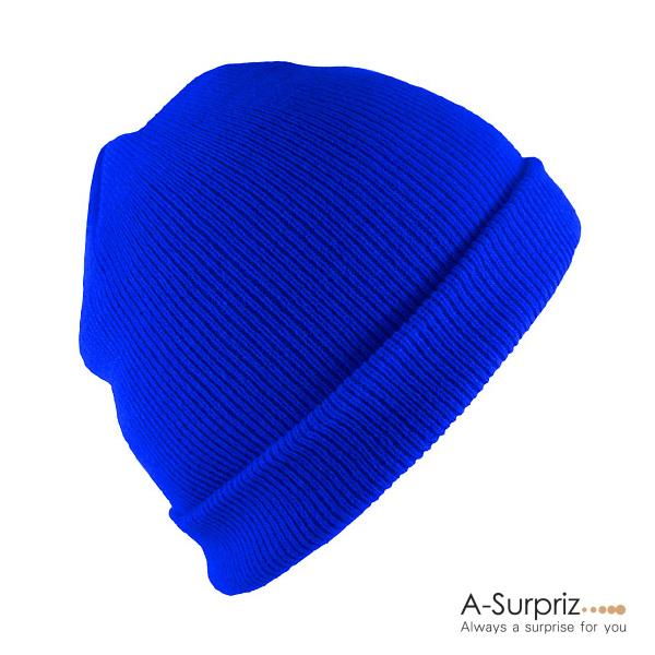 Personalized Fashion Knitted Hat Winter Hat (Royal Blue)