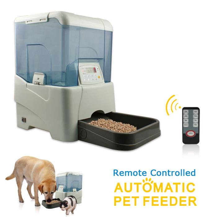Pet Automatic Food Dispenser LCD Digital Programmable Timer Pet Feeder