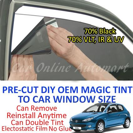Peugeot 206 2006 Magic Tinted Solar Window ( 4 Windows & Rear Window )