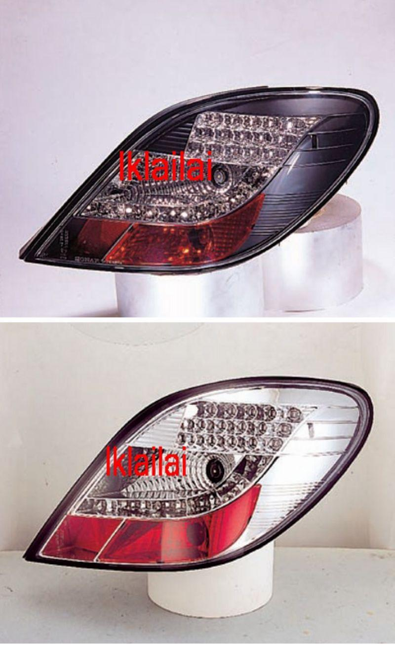 PEUGEOT 207 Crystal LED Tail Lamp [Chrome/Smoke/Black Housing]