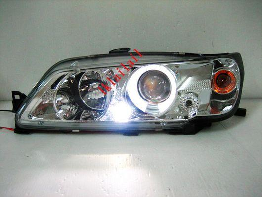 PEUGEOT 306 N3 '92-96 Projector Head Lamp [Dual LED Ring-Chrome Housin