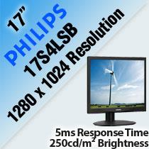 PHILIPS 17S4LSB 17' LCD MONITOR & LED BACKLIGHT
