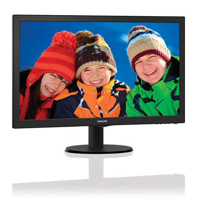 PHILIPS 23.6' LED COMPUTER MONITOR  (8712581689391)