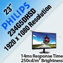 PHILIPS 234G5DHSD 23' 3D LCD MONITOR