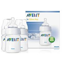 Philips Avent: PP Feeding Bottle (125ml/4oz) Triple PACK