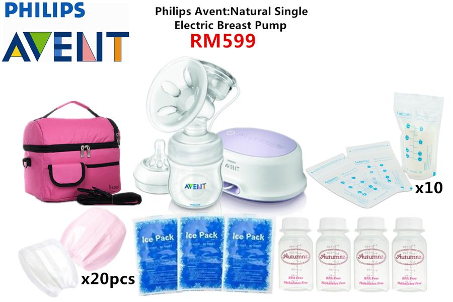 Philips Avent Single Electric Comfort Breast Pump Package