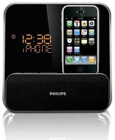 Philips Clock radio Docking Entertainment System for iPod / iphone