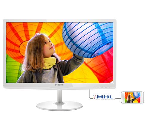 PHILIPS E-LINE 23'6 LED IPS MONITOR -WHITE (247E6QDSW)