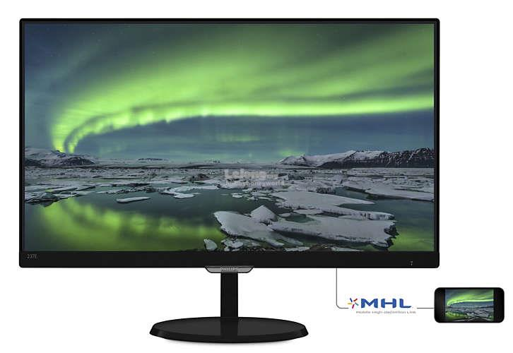 "PHILIPS E LINE 23"" FULL HD LCD MONITOR (237E7QDSB/W)"