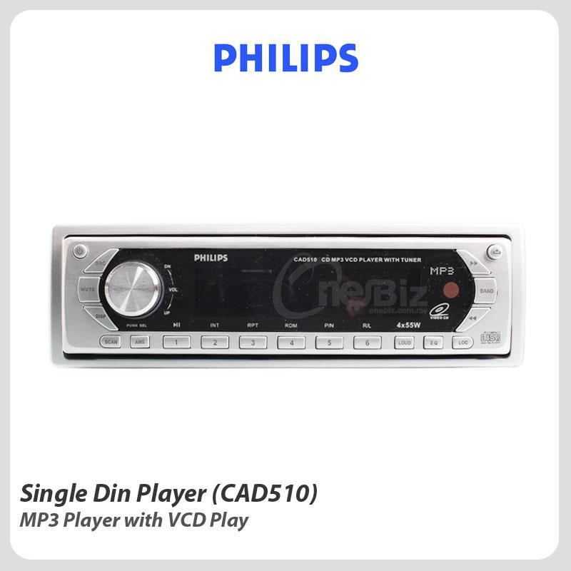 Philips Single Din Player - MP3 Player With VCD Play