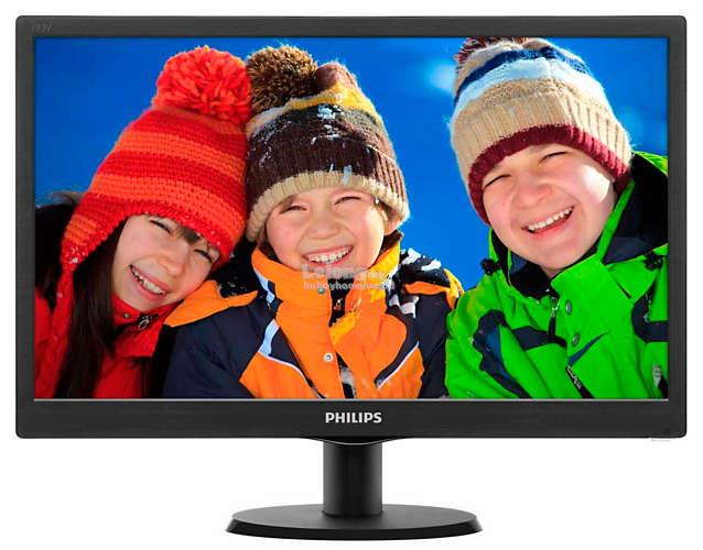 "PHILIPS V-LINE 18.5"" LCD MONITOR WITH SMARTCONTROL LITE (193V5LHSB2)"