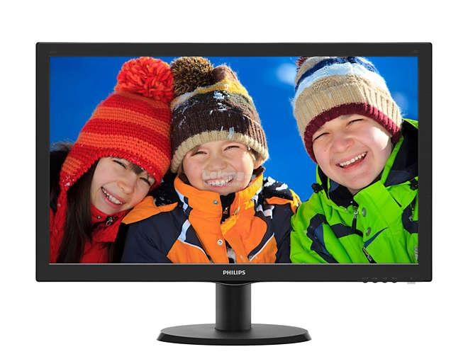 "PHILIPS V LINE 23.6"" LCD MONITOR WITH SMARTCONTROL LITE (243V5QHSBA)"