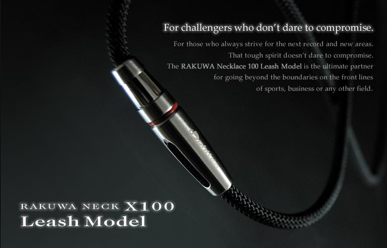 Phiten RAKUWA X100 TITANIUM NECKLACE (Black Silver)