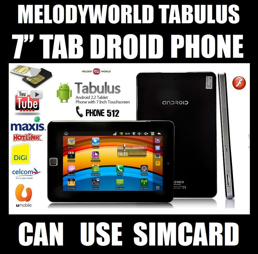 PHONE SMS TABLET SIMCARD TABULUS 4GB  512 CALL TABLET