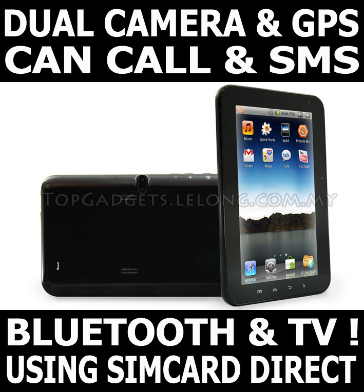 Phone Tablet GPS Dual Camera Bluetooth + Free Gifts