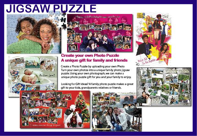 Photo Puzzle Pinting - Print Your Own Image