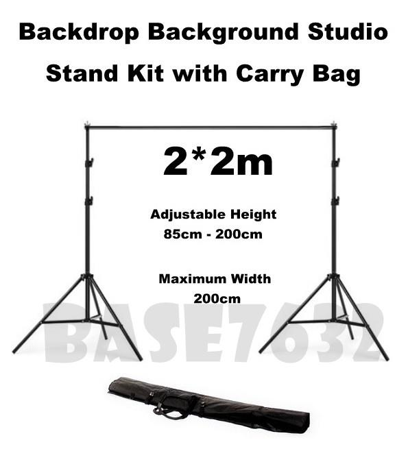 Photography  Backdrop Background Studio Stand Kit 2*2m Free Clip
