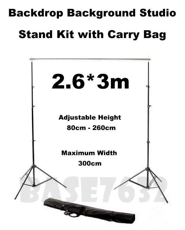 Photography  Backdrop Background Studio Stand Kit 2.6*3m Free Clip