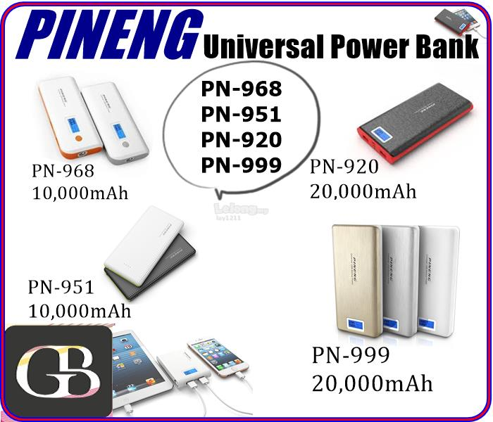 PINENG HIGH QUALITY  POWER BANK PN968 PN951 PN999 PN920 WARRANTY 2YR