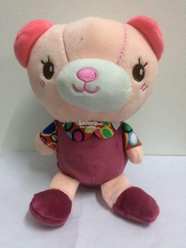 Pink Bear Plushy Toy 21.5cm