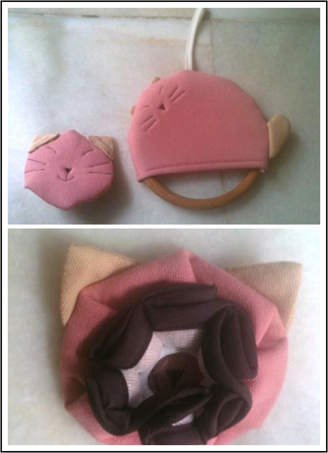 Pink Cat Towel Hanger + Doorknob cover