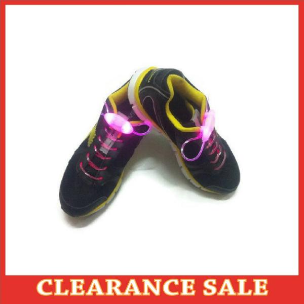 Pink LED Lighted Shoelace