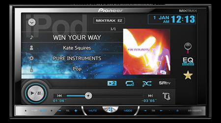 Pioneer AVH-X4550DVD In-Dash Double-DIN DVD Multimedia AV Receiver 7