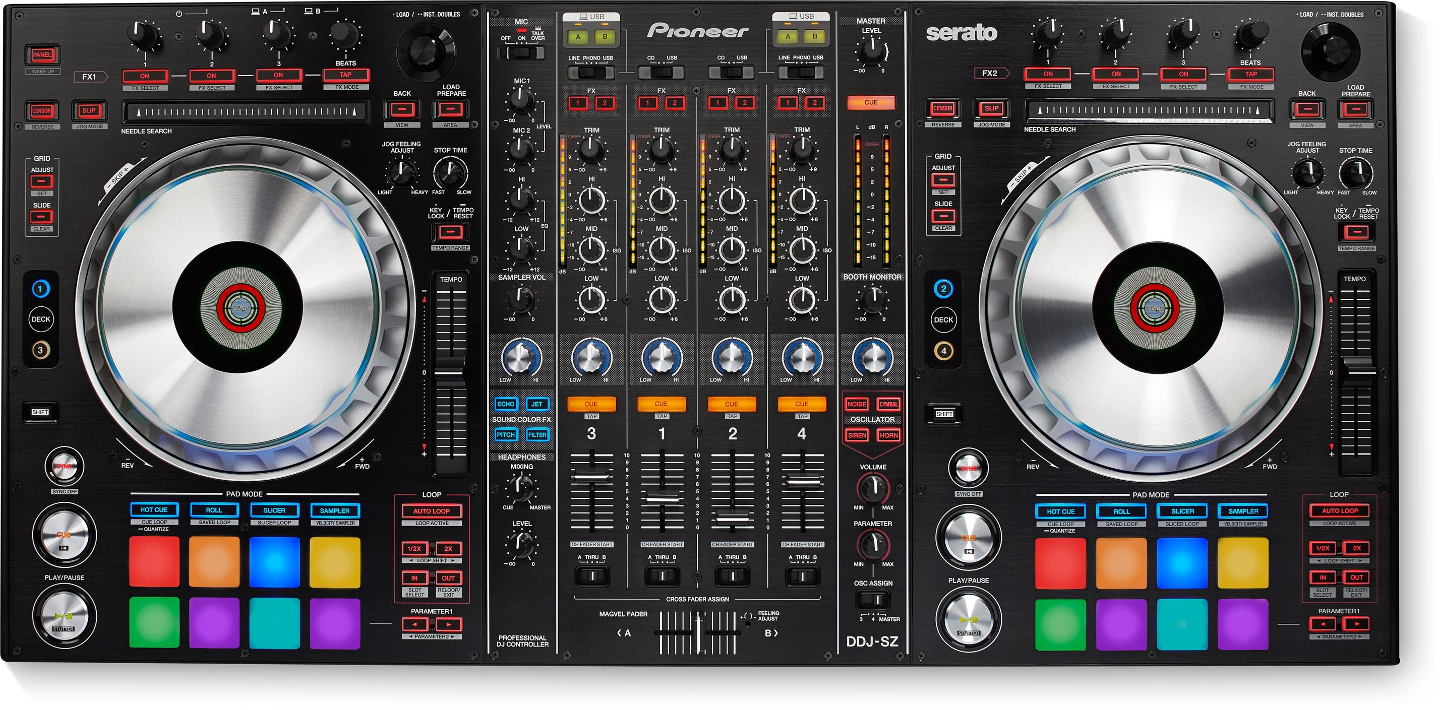 PIONEER DDJ-SZ - Flagship 4-Channel Controller for Serato DJ