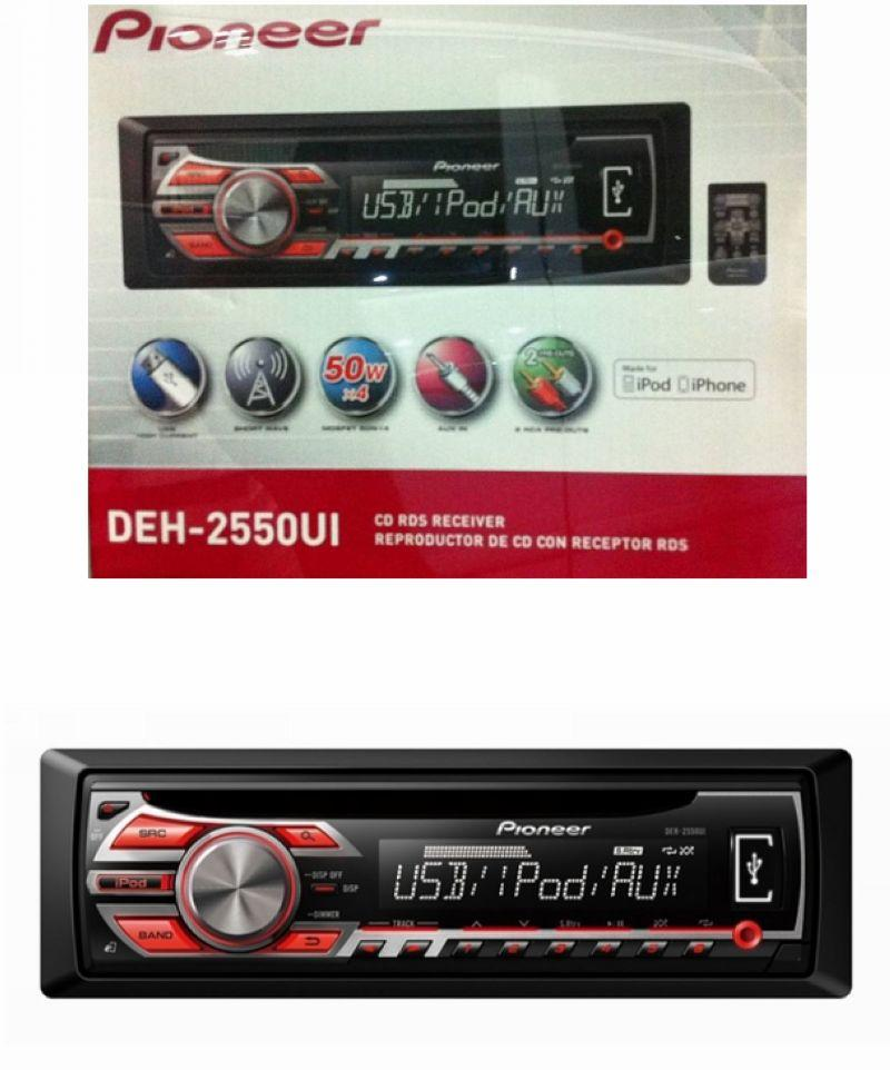Pioneer DEH-2550UI CD Player with USB control for iPod / iPhone