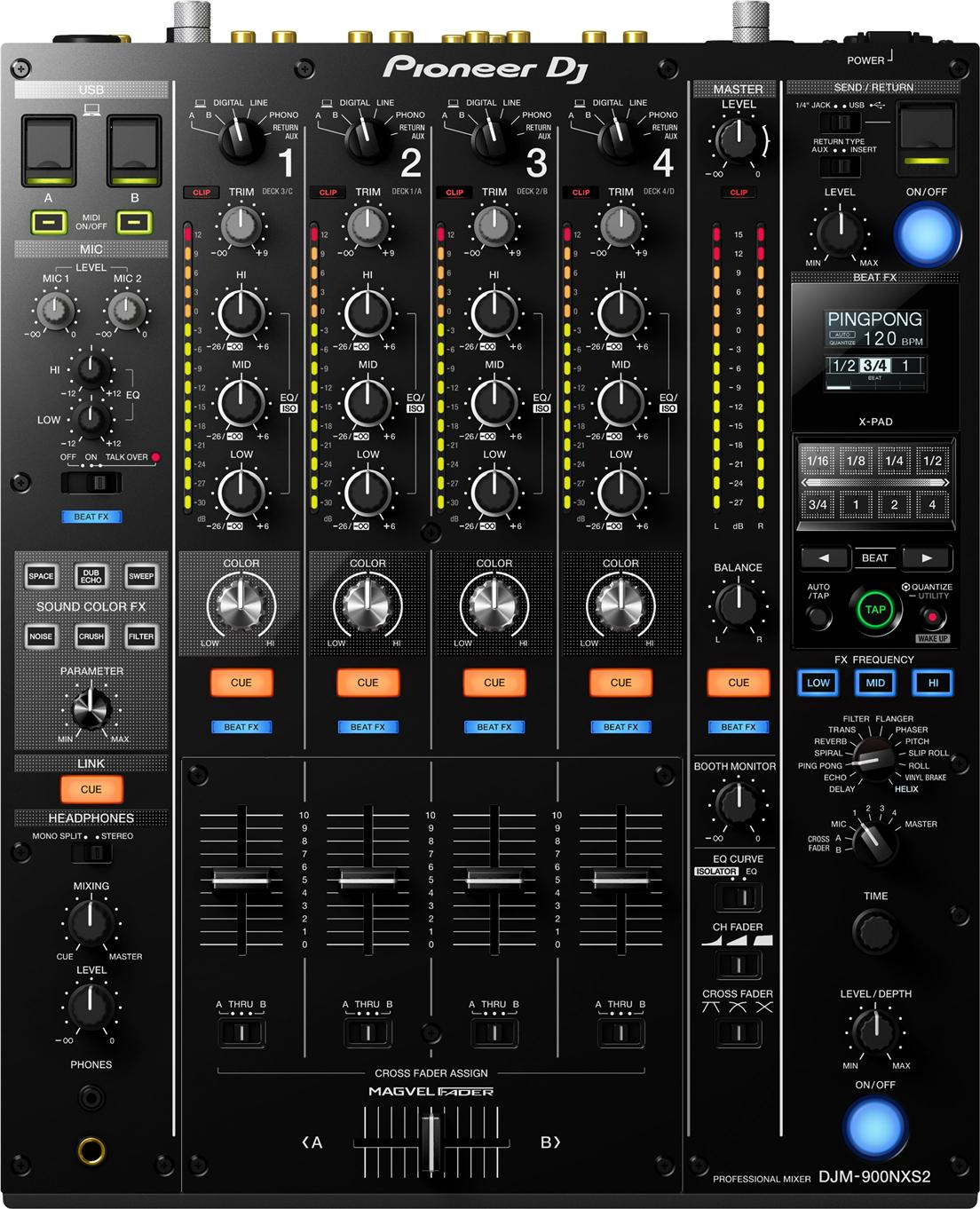 PIONEER DJM-900NXS2 - 4-Channel Digital Pro-DJ Mixer - FREE SHIPPING