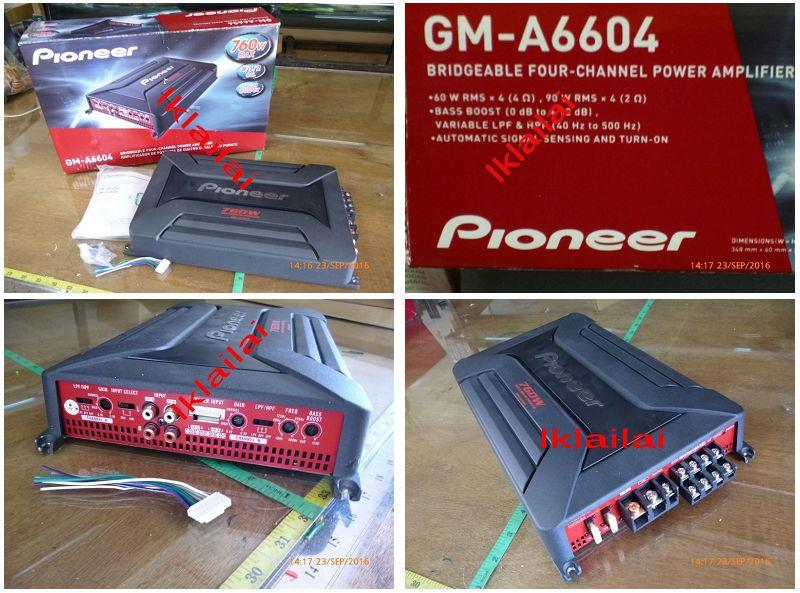 Pioneer GM-A6604 760 Watt 60W RMS x 4 4 Channel Amplifier