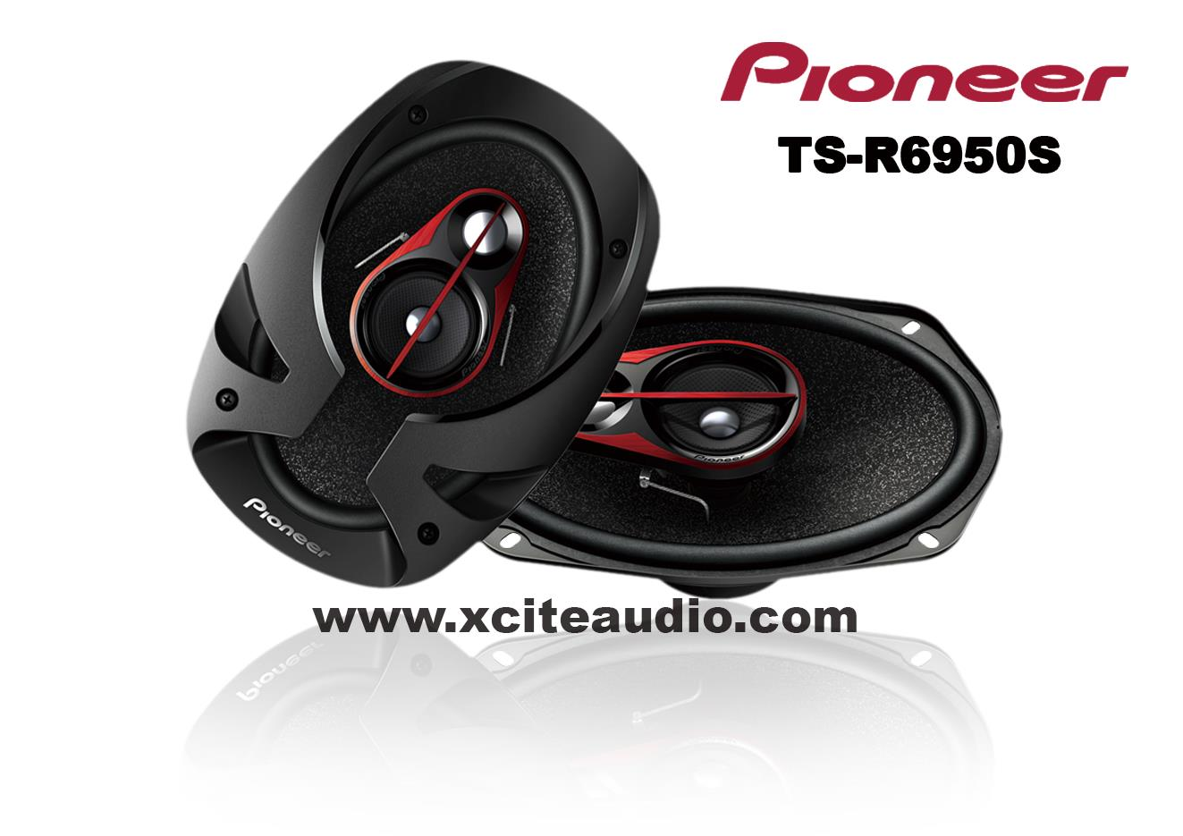Pioneer TS-R6950S 6'x 9' 3-Way 300W Coaxial Car Speakers
