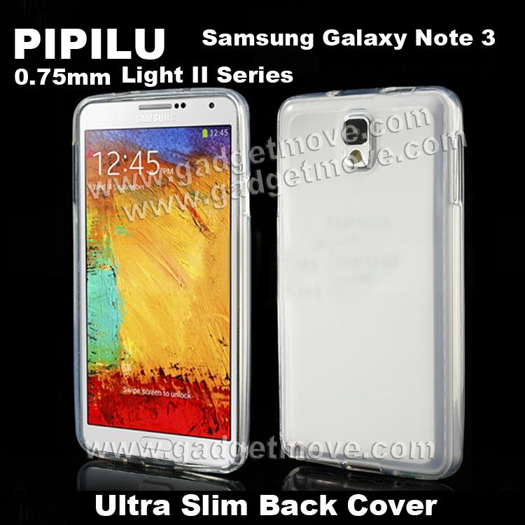 PIPILU Ultra Slim 0.75mm Samsung Galaxy Note 3 4 Cover Back Case TPU