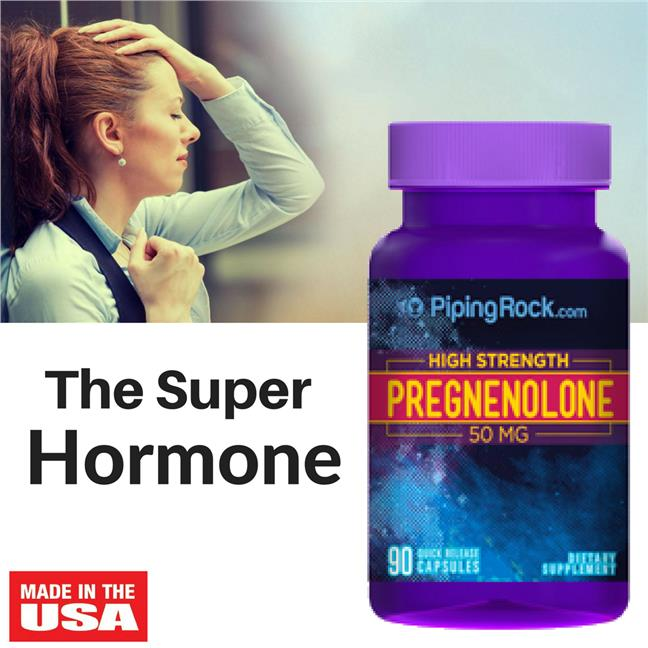 Piping Rock, High Strength Pregnenolone 50 mg 90 Capsules (DHEA)
