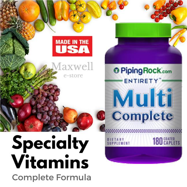 Piping Rock, Multi Complete 180 Caplets (Vitamin, Minerals, Health)
