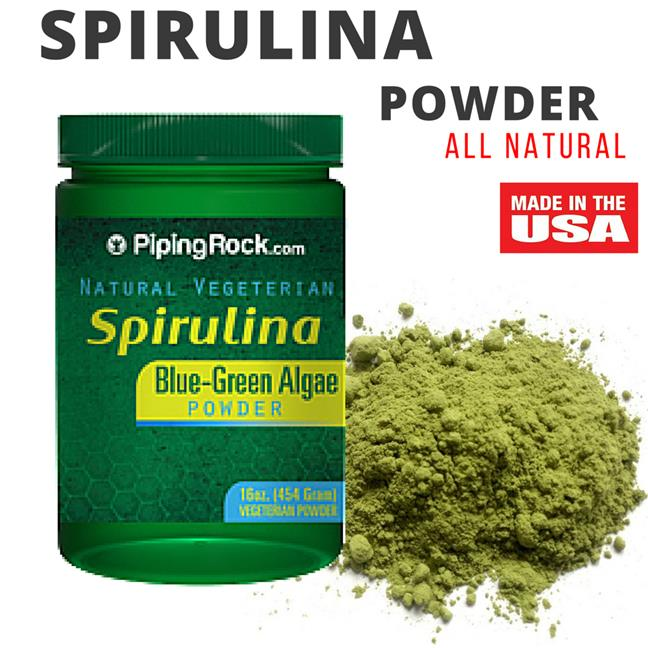 Piping Rock, Spirulina Powder 16 oz (454 g) Bottle