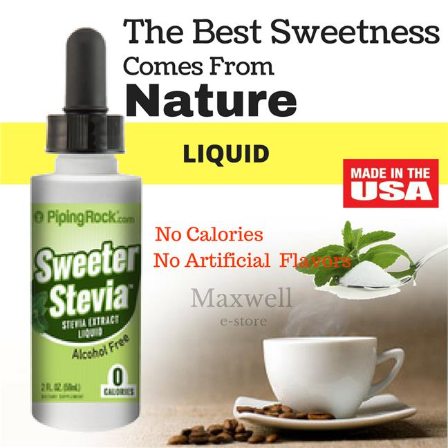 Piping Rock, Sweeter Stevia Liquid 2 fl oz (59 ml) Dropper Bottle