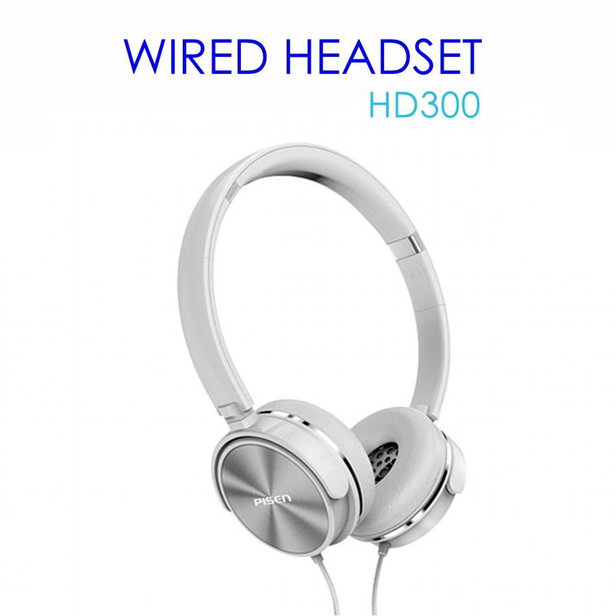 Pisen Wired Headset HD300 - Moonlight Silver