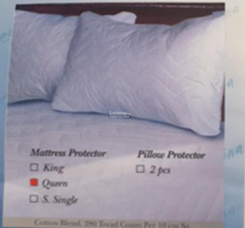 Plain white fitted Mattress Protector- King