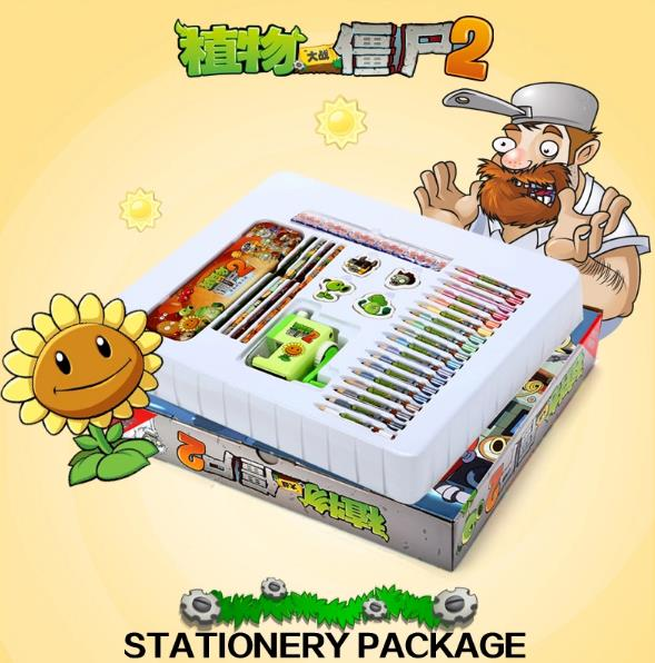 Plants Vs Zombies Present Gift Student Stationery Set Large Size