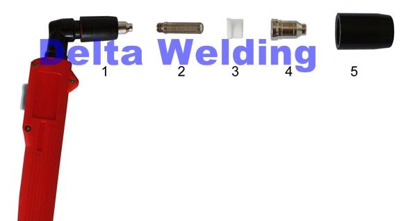 Plasma G-51 Welding Malaysia Torch Spare Part ( Tip )