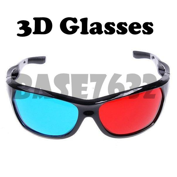 Plastic Anaglyphic Blue&Red TV Movie 3D Glasses