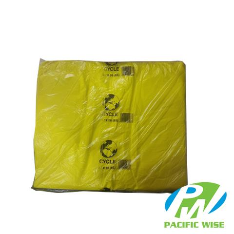 Plastic Bag 22'' x 26'' (Big)-Yellow