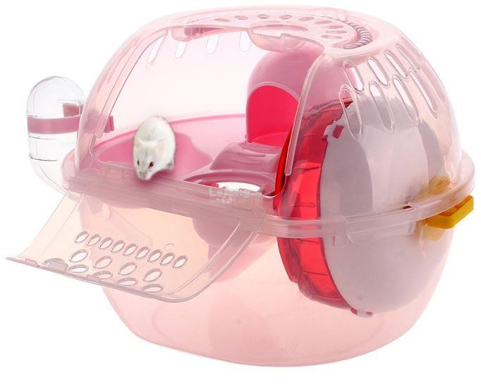 Plastic House Cage with Mute Exercise Wheel Toy for Rat Hamster Mouse