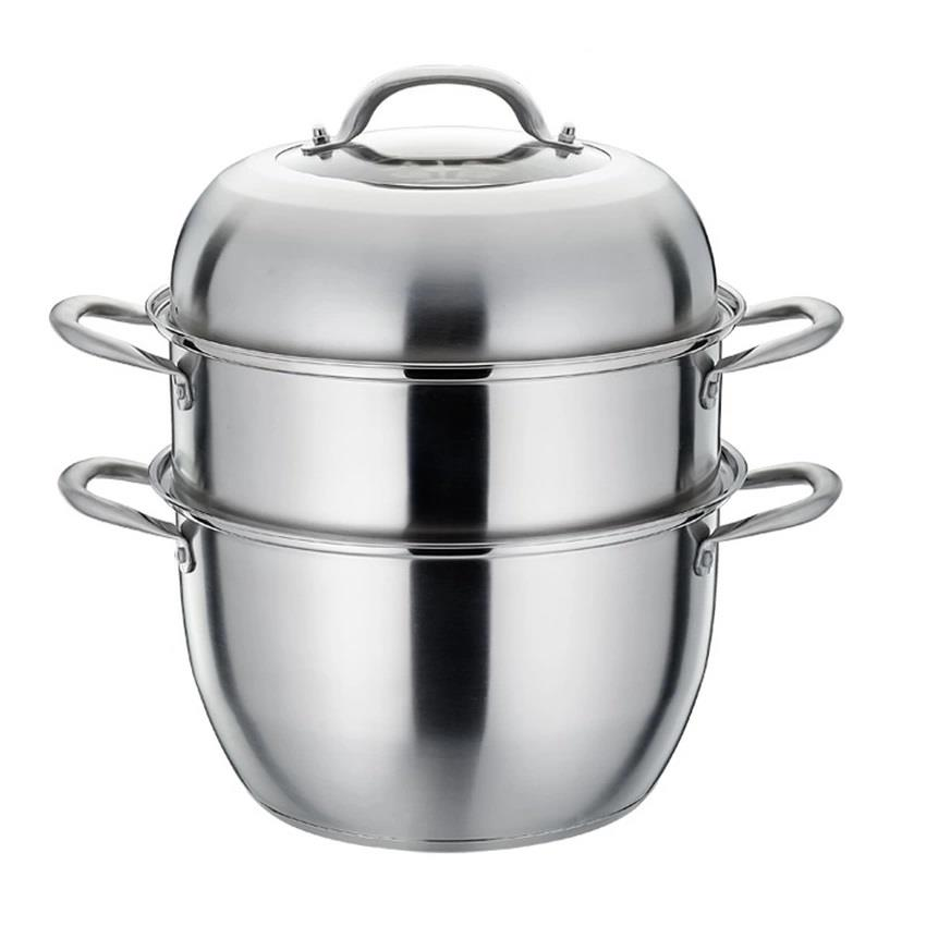 Platinum 30cm 3 Tier Tri-Ply Stainless Steel Steamer