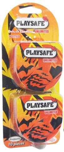 Playsafe Easy Pack Dotted Condom (Kondom)  - 10's