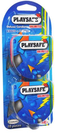 Playsafe Easy Pack Dotted & Ribber Condom (Kondom)  - 10's