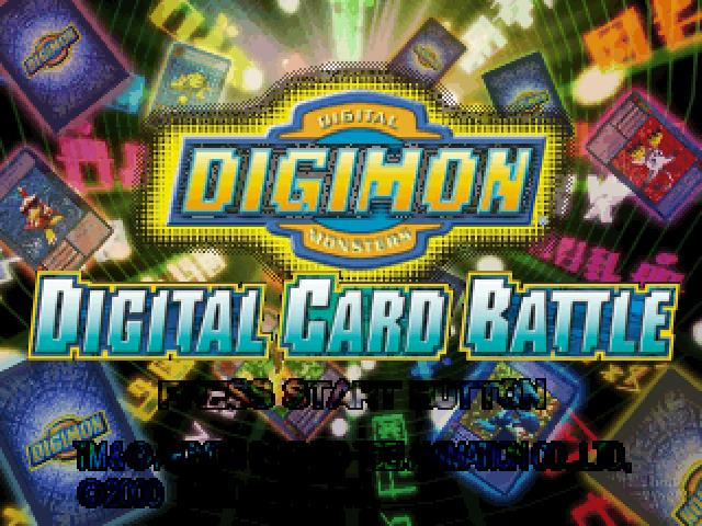 Playstation 1 Digimon Card Battle English PC Vers