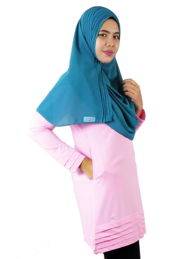 Pleat Layer Top / Blouse- Pink (aq894h)