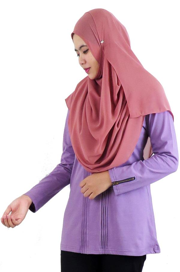 Pleat Top / Blouse � Pale Lilac (aq891d)
